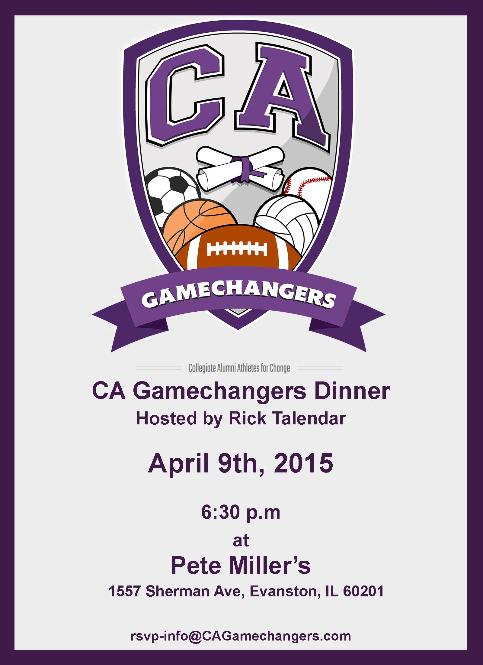 April 09 2015 CAGamechangers Rick Talendar Dinne: April 09 2015 CAGamechangers Rick Talendar Dinne