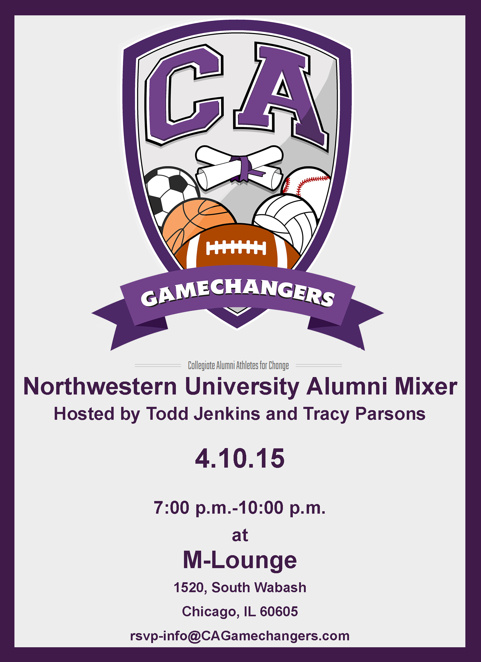 APRIL 10 2015  Spring Game Alumni Mixer HOSTED by The GAMECHANGERS: APRIL 10 2015  Spring Game Alumni Mixer HOSTED by The GAMECHANGERS