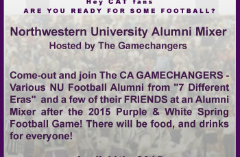 CAgamechangers T2015 Spring Game Alumni Mixer HOSTED by The GAMECHANGERS e-flyer